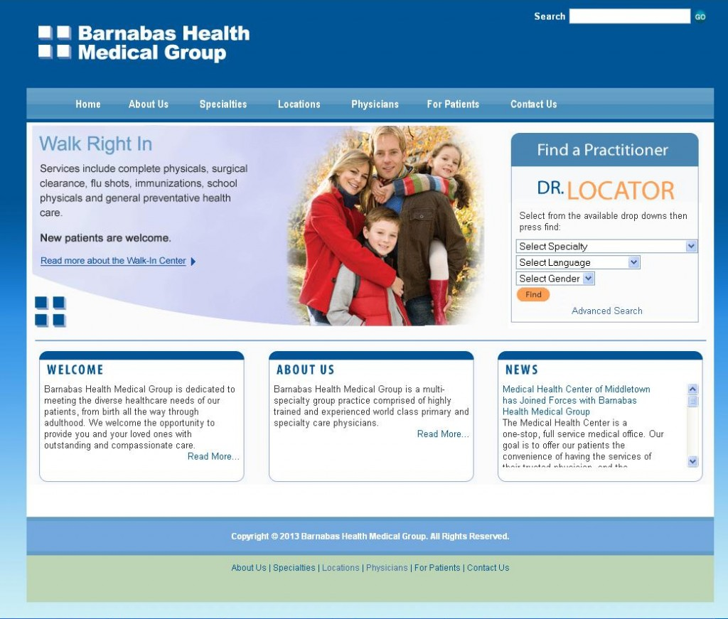 Barnabas Health Medical Group - Main Page