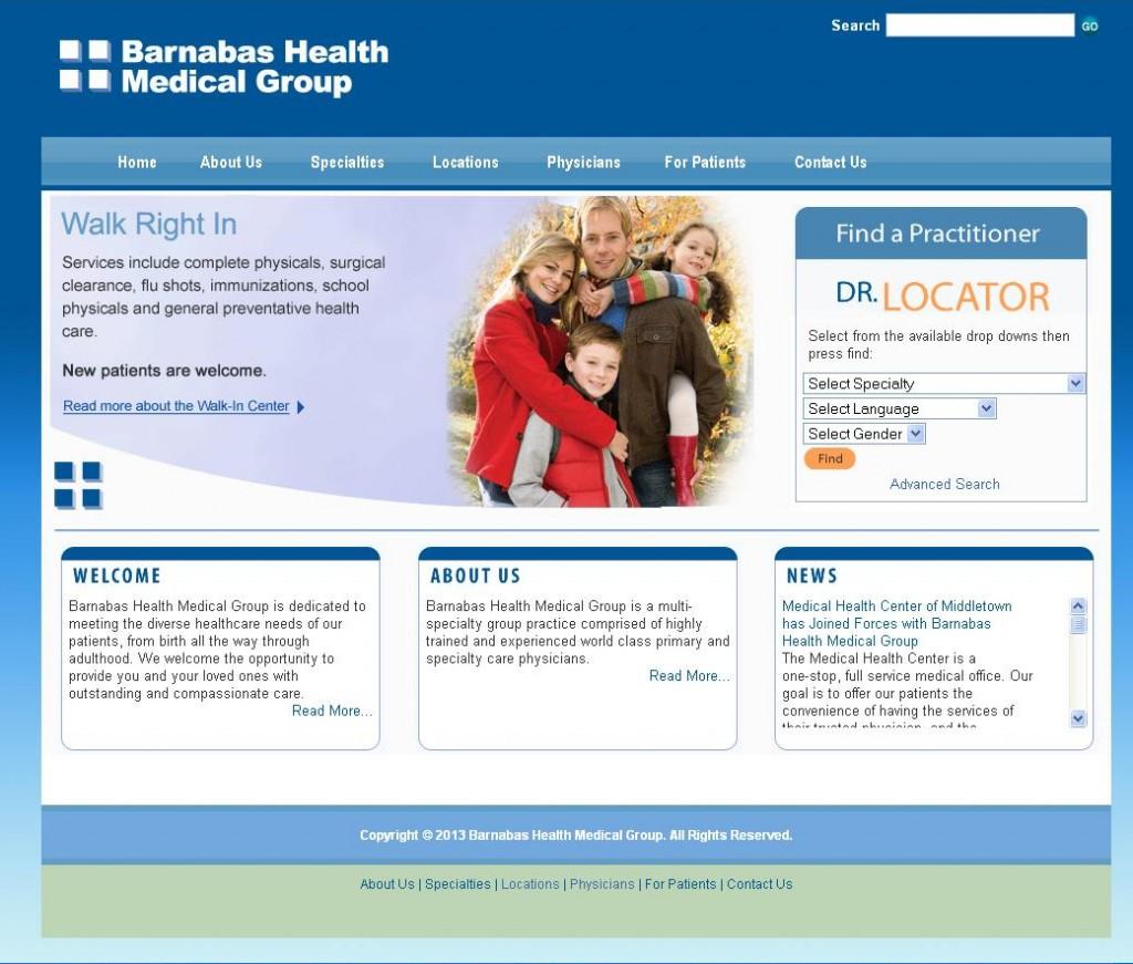 Barnabas Health Medical Group - Main Page