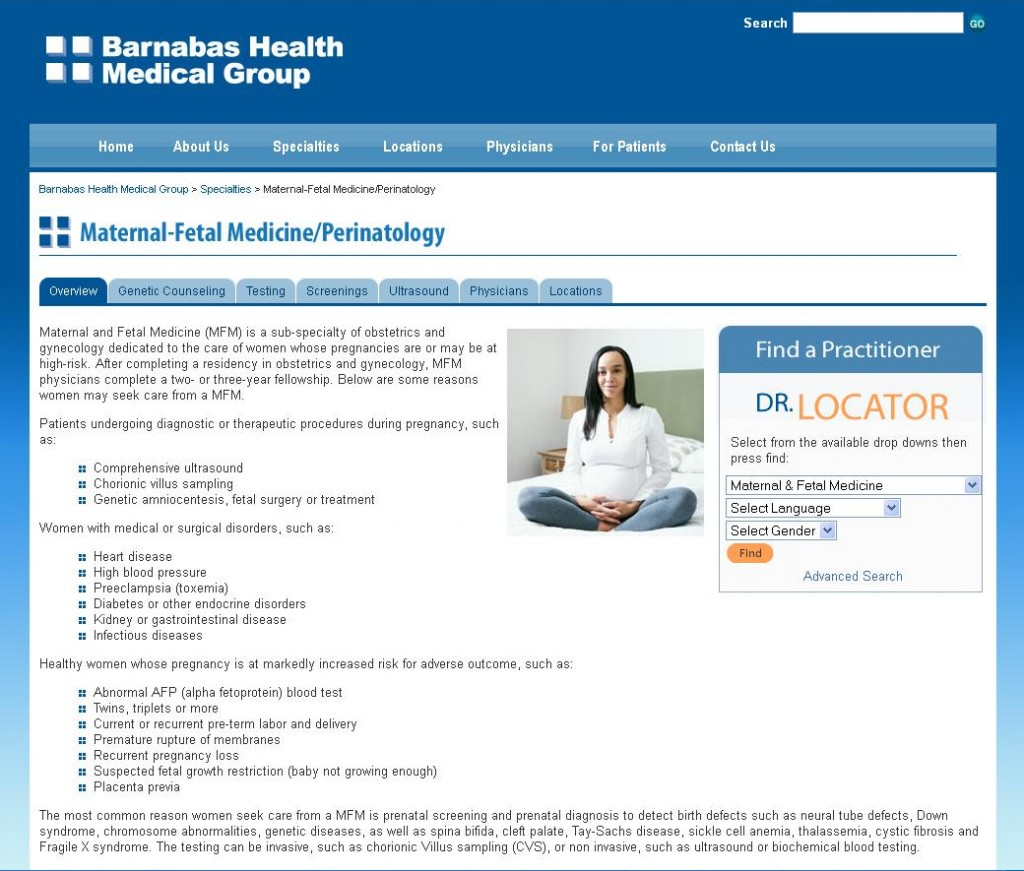Barnabas Health Medical Group - Specialty Page