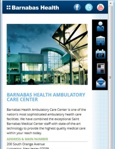 Barnabas Health Mobile - Facility Page