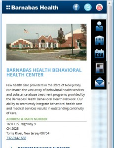 Barnabas Health Mobile - Facility Detail Page