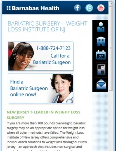 Barnabas Health Mobile - Specialty Detail Page