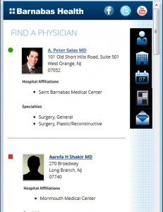 Barnabas Health Mobile - List of Physicians