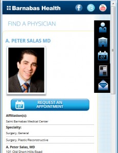 Barnabas Health Mobile - Physician Page