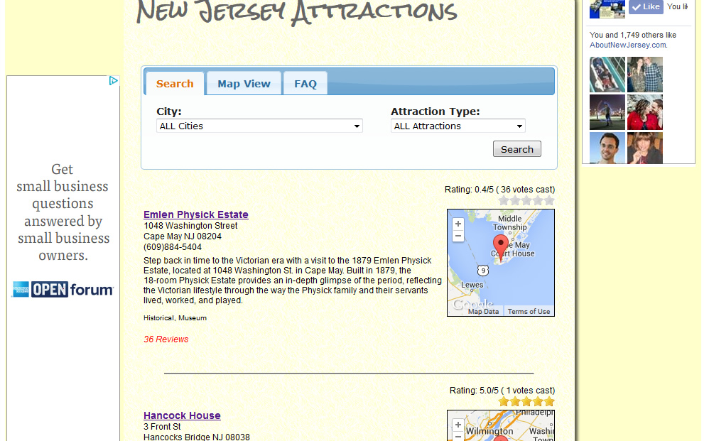AboutNewJersey.com - Attraction Listing